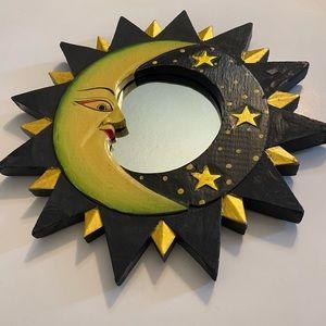 Y2K Moon Stars and Sun wall hanging mirror